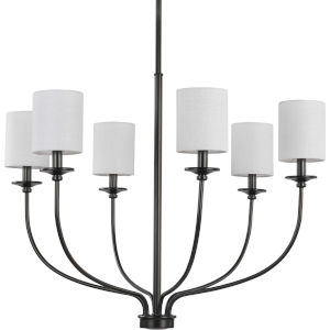 Bonita Black 31-Inch Six-Light Chandelier