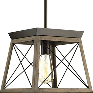 P500041-020: Briarwood Antique Bronze One-Light Pendant