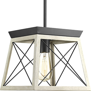 P500041-143: Briarwood Graphite One-Light Pendant