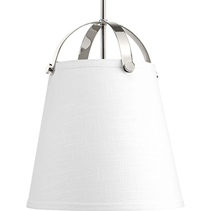 P500046-104: Galley Polished Nickel Two-Light Pendant
