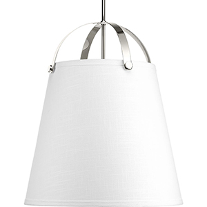 P500047-104: Galley Polished Nickel Three-Light Pendant
