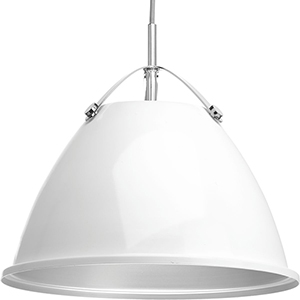 P500052-030: Tre White One-Light Pendant