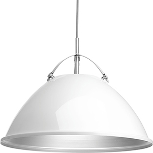 P500053-030: Tre White One-Light Pendant