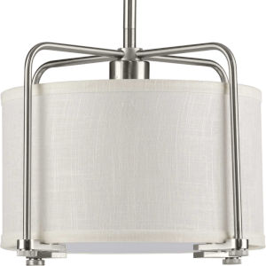 P500138-009 Kempsey Brushed Nickel 12-Inch One-Light Pendant