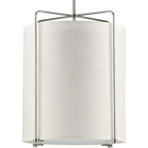 P500139-009 Kempsey Brushed Nickel 18-Inch Three-Light Pendant