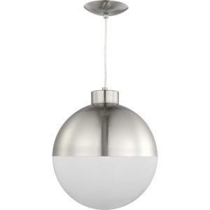 Globe Brushed Nickel 12-Inch ADA LED Pendant