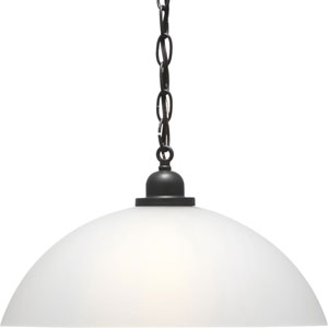 P500149-143: Classic Dome Pendant Graphite One-Light Pendant