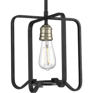 P500155-071 Foster Gilded Iron 11-Inch One-Light Pendant