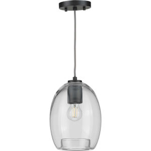 Caisson Graphite Eight-Inch One-Light Mini Pendant