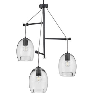 Caisson Graphite 30-Inch Three-Light Pendant