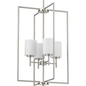 P500206-009 Replay Brushed Nickel 18-Inch Four-Light Pendant