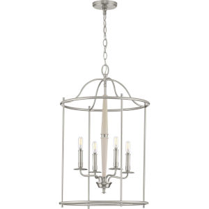 Durrell Brushed Nickel 18-Inch Four-Light Pendant