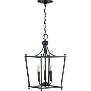Parkhurst Black 11-Inch Three-Light Pendant