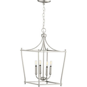 Parkhurst Brushed Nickel 14-Inch Four-Light Pendant