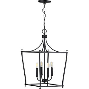 Parkhurst Black 14-Inch Four-Light Pendant