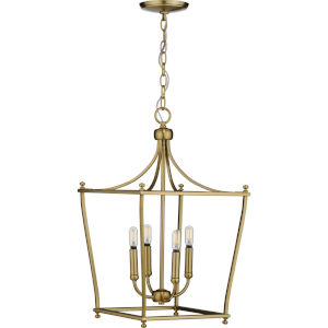 Parkhurst Brushed Bronze 14-Inch Four-Light Pendant