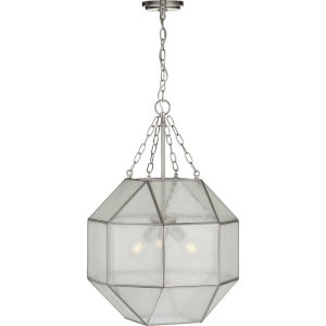 Mauldin Brushed Nickel 17-Inch Three-Light Pendant