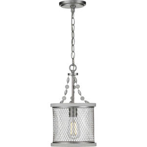 Austelle Galvanized Nine-Inch One-Light Mini Pendant