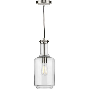 Latrobe Brushed Nickel Seven-Inch One-Light Mini Pendant with Clear Glass