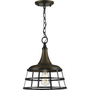 Bastille Aged Brass 12-Inch One-Light Pendant