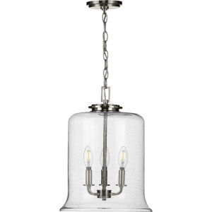 Winslett Brushed Nickel 13-Inch Three-Light Pendant