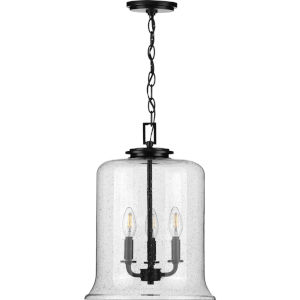 Winslett Black 13-Inch Three-Light Pendant