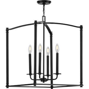 Winslett Black 20-Inch Four-Light Pendant