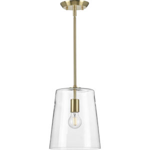 Clarion Satin Brass Nine-Inch One-Light Mini Pendant