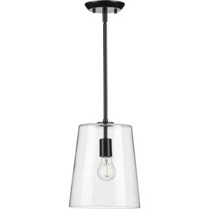 Clarion Black Nine-Inch One-Light Mini Pendant