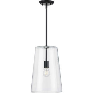 Clarion Black 11-Inch One-Light Pendant