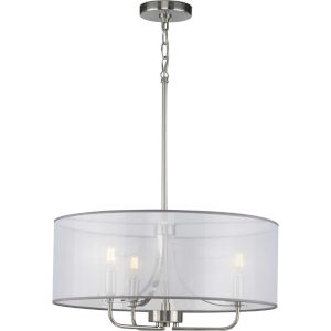 Riley Brushed Nickel 21-Inch Three-Light Pendant