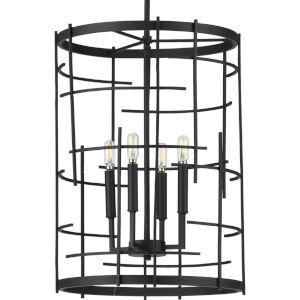 Torres Black 16-Inch Four-Light Pendant