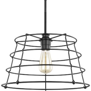 Chambers Black 16-Inch One-Light Pendant