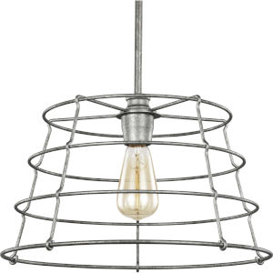 Chambers Galvanized 16-Inch One-Light Pendant