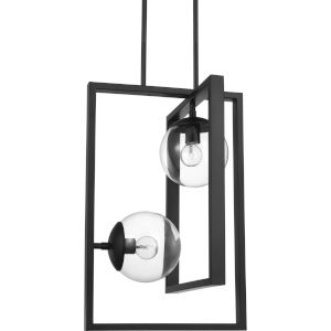 Atwell Black 14-Inch Two-Light Pendant