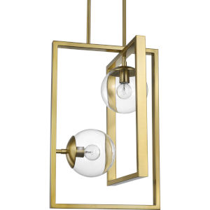 Atwell Brushed Bronze 14-Inch Two-Light Pendant