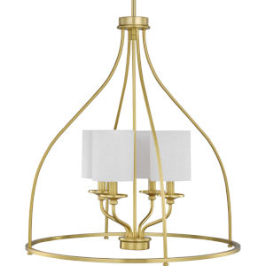 Bonita Satin Brass 23-Inch Four-Light Pendant