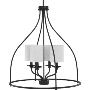 Bonita Black 23-Inch Four-Light Pendant