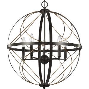Brandywine Antique Bronze 22-Inch Five-Light Pendant