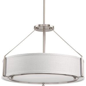 P5015-09: Ratio Brushed Nickel Four-Light Pendant