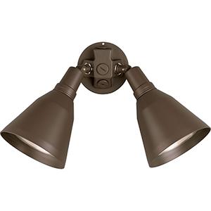 P5203-20: Par Lampholder Antique Bronze Two-Light Halogen Outdoor Floodlight