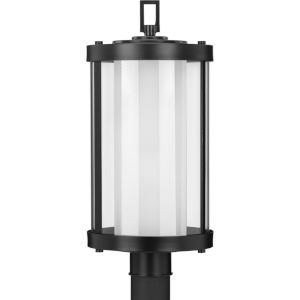 Irondale Matte Black 10-Inch One-Light Outdoor Post Mount with Clear Shade