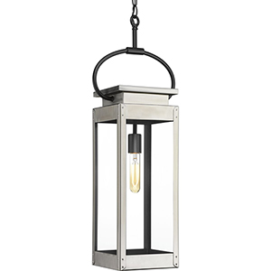 P550018-135: Union Square Stainless Steel One-Light Outdoor Hanging Lantern