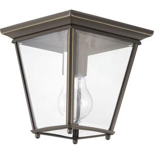 P550035-020: Burlington Antique Bronze One-Light Flush Mount Lighting