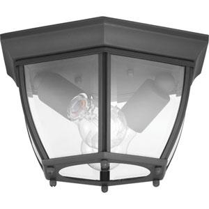 P550036-031: New Haven Black Two-Light Flush Mount Lighting
