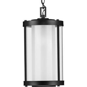 Irondale Matte Black 10-Inch One-Light Outdoor Pendant with Clear Shade