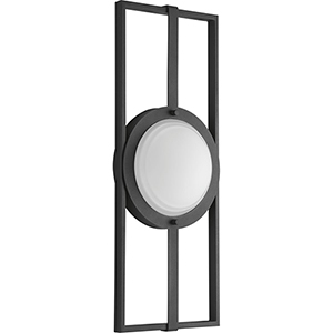 P560054-031-30: Z-1040 Black One-Light LED Energy Star Outdoor Wall Mount with Etched Glass