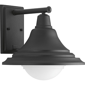 P560055-031-30: Chandler Black One-Light LED Energy Star Outdoor Wall Mount