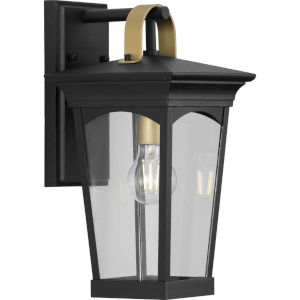 Chatsworth Textured Black Eight-Inch One-Light Outdoor Wall Sconce with Clear Shade