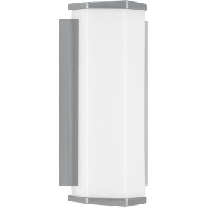 Z-1070 Metallic Gray Six-Inch LED Outdoor Wall Sconce with Acrylic Shade